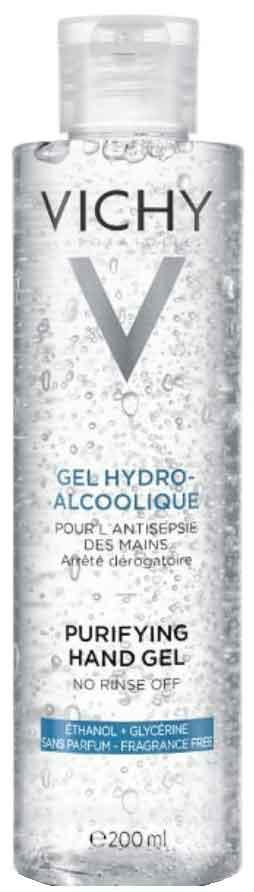 Vichy Hydroalcoholic Gel Χεριών Με 70% Αλκοόλη, 200ml