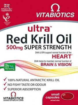 Vitabiotics Ultra Krill Oil 500mg, 30 Kάψουλες