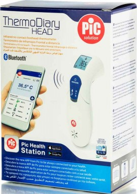 Pic ThermoDiary Head Ψηφιακό Θερμόμετρο Μετώπου Με Bluetooth, 1Tεμάχιο