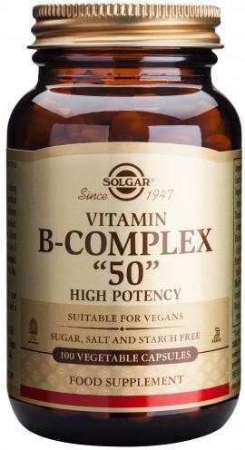 Solgar B- Complex 50, 100 Κάψουλες