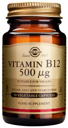 Solgar Vitamin B12 500mg, 50 Κάψουλες