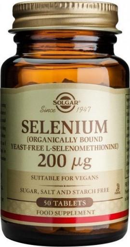Solgar Selenium 200mg, 50 Ταμπλέτες