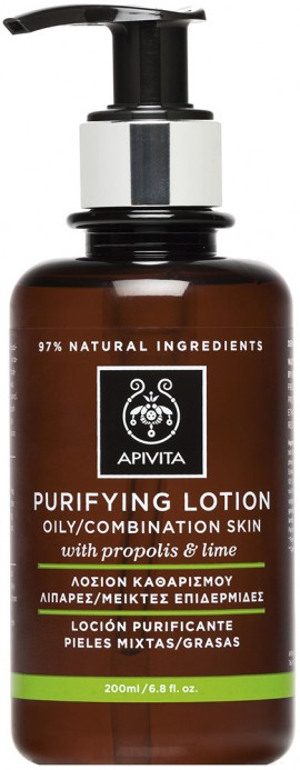 Apivita Λοσιόν Καθαρισμού Με Πρόπολη & Lime, 200ml
