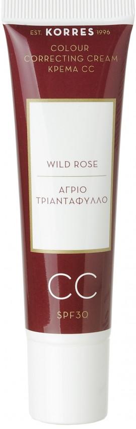 Korres Άγριο Τριαντάφυλλο CC Medium SPF30, 30ml