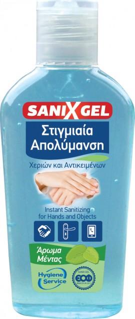 Sanix Gel Αντισηπτικό Χεριών & Επιφανειών (Με 70% Αιθυλική Αλκοόλη), 80ml