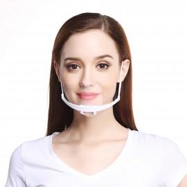 Μάσκα Διάφανη Πολλαπλών Χρήσων  Άσπρη, 1 Τεμάχιο