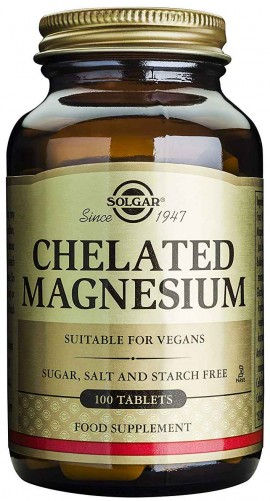Solgar Chelated Magnesium 100mg, 100 Ταμπλέτες