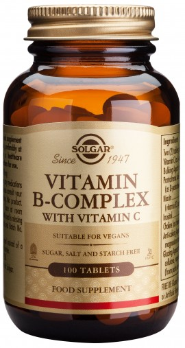 Solgar B- Complex With Vitamin C, 100 Ταμπλέτες