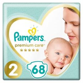 Pampers Premium Care Jumbo Pack No2 (4-8 kg) 68 Τεμάχια