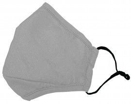 Ενηλίκων Βαμβακέρη Μάσκα Με Ρυθμιζόμενο Λαστιχάκι Γκρί, 1 Τεμάχιο