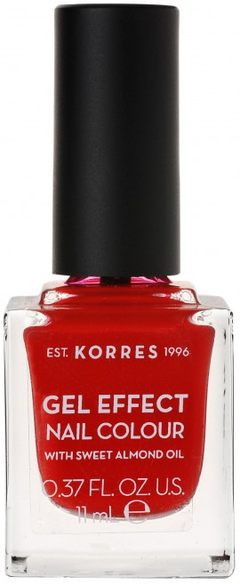 Korres Gel Effect Nail Color 53 Royal Red, 11ml