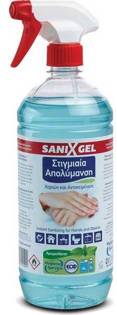 Sanix Spray Αντισηπτικό Χεριών & Επιφανειών (Με 70% Αιθυλική Αλκοόλη), 1000ml