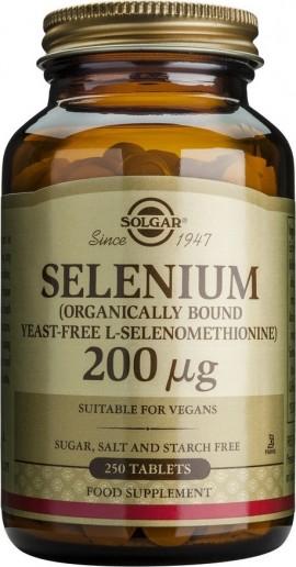 Solgar Selenium 200mg, 250 Ταμπλέτες