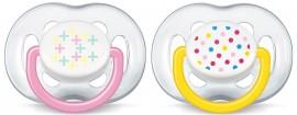 Phillips Avent Πιπίλα Freeflow Κορίτσι 6-18 Μηνών SCF180/28, 2 Τεμάχια