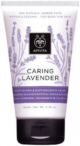 Apivita Caring Lavender Body Cream, 150ml