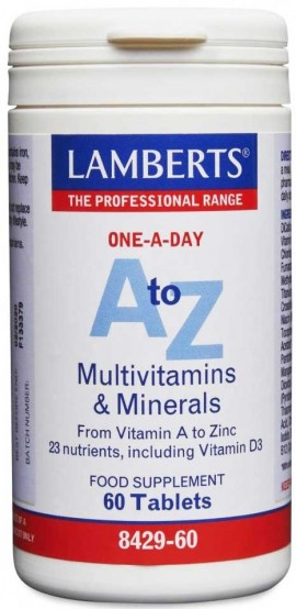 Lamberts A Τo Z Multivitamins, 60 Tαμπλέτες