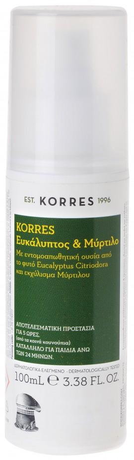 Korres Ευκάλυπτος & Μύρτιλο Εντομοαπωθητικό Γαλάκτωμα, 100ml