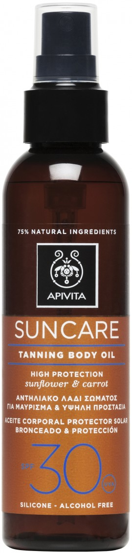Apivita Sun Care Tanning Body Oil SPF30, 150ml