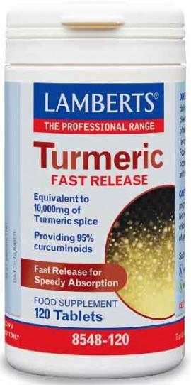 Lamberts Turmeric Fast Release, 120 Ταμπλέτες