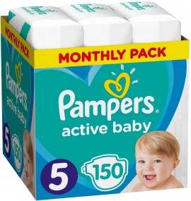 Pampers Monthly Pack Active Baby No5 (11- 16 kg), 150 Τεμάχια