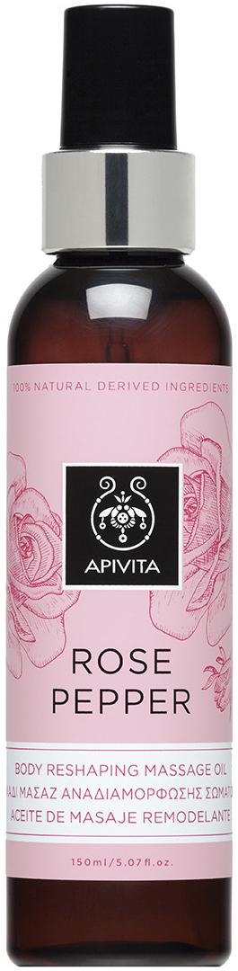 Apivita Rose Pepper Massage Oil ,150ml
