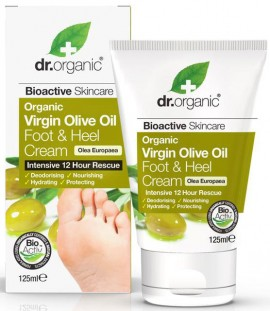 Dr. Organic Virgin Olive Oil Foot & Hell Cream, 125ml