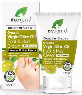 Dr. Organic Virgin Olive Oil Foot & Hell Cream, 125ml