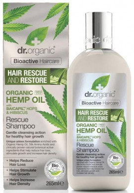 Dr. Organic Hemp Oil Rescue Shampoo, 265ml