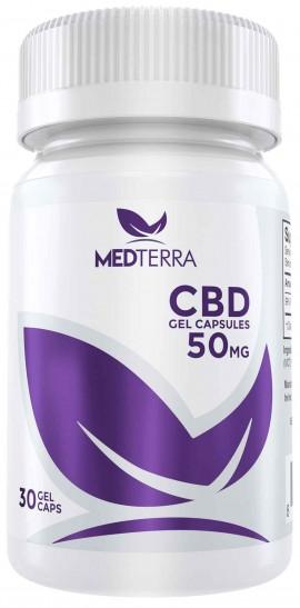 Medterra CBD 50mg, 30 Gel Caps