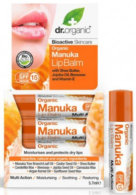 Dr. Organic Manuka Honey Lipbalm, 5.7ml