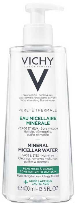 Vichy Purete Thermale Eau Micellar Minerale Water Κανον/Μεικτή Επιδερμίδα, 400ml