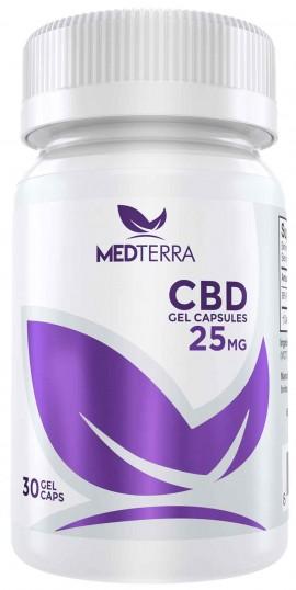 Medterra CBD 25mg, 30 Gel Caps