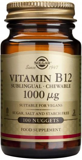 Solgar Vitamin B12 1000mg, 100 Υπογλώσσια Δισκία
