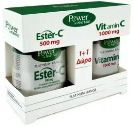 Power Health Platinum  Ester-C 500mg 50 Ταμπλέτες & Δώρο Vit.C 1000mg 20 Ταμπλέτες