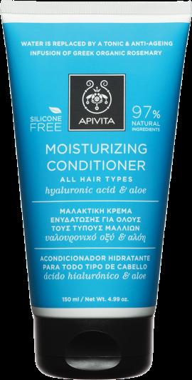 Apivita Moisturising Conditioner Με Υαλουρονικό Οξύ & Αλόη, 250ml