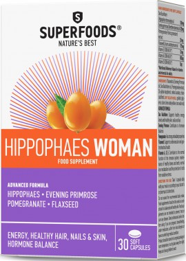Superfoods Ιπποφαές Woman, 30 Μαλακές Κάψουλες