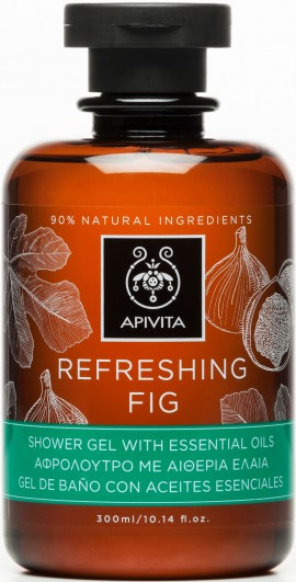 Apivita Refreshing fig Shower Gel With Essential Oils,300ml