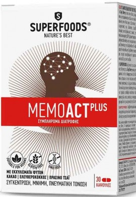 Superfoods Memoact Plus, 30 Κάψουλες