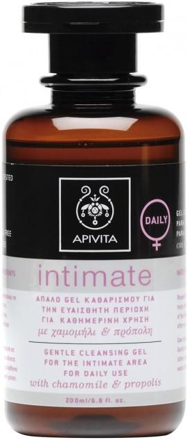 Apivita  Ιntimate Daily, Gel Καθαρισμού για την Ευαίσθητη Περιοχή Με Χαμομήλι & Πρόπολη,200ml
