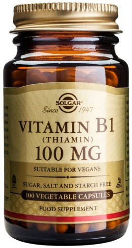 Solgar Vitamin B1 100mg, 100 Κάψουλες