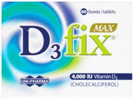 Uni-Pharma D3 Fix Max 4000 IU, 60 Ταμπλέτες