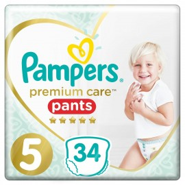 Pampers Premium Care Pants No 5 (12-17Kg), 34 Τεμάχια