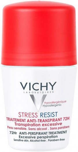 Vichy Deodorant Stress Resist Rol-On, 72H, 50ml