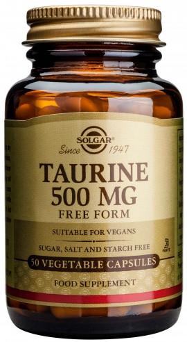 Solgar Taurine 500mg, 50 Κάψουλες