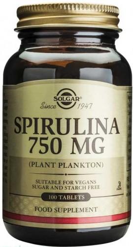 Solgar Spirulina 750mg, 100 Ταμπλέτες
