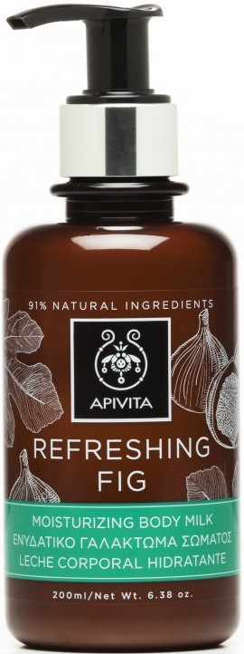 Apivita  Refreshing Fig Μoisturising Body Milk, 200ml