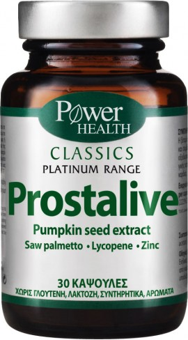 Power Health Platinum Prostalive, 30 Κάψουλες