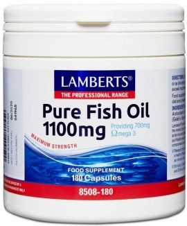 Lamberts Pure Fish Oil 1100mg, 180 Κάψουλες