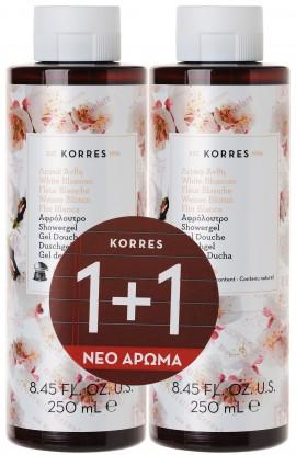 Korres Αφρόλουτρο Λευκά Άνθη, 2x 250ml