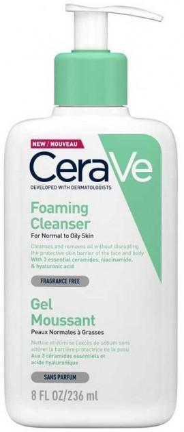 CeraVe Foaming Cleanser Κανονική- Λιπαρή Επιδερμίδα, 236ml